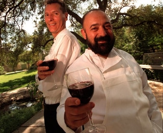Michel Delcros (Maitre D') and Juan Alonso (Owner and Head Chef)