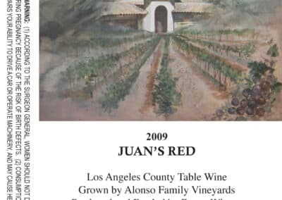Juans Red 2009 Wine Label