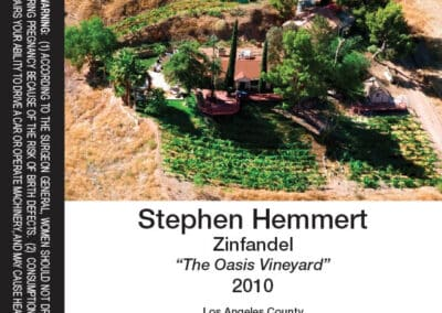 Stephen Hemmert 2010 Zinfandel Wine Label