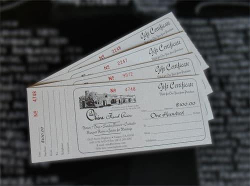 Le Chene Gift Certificates