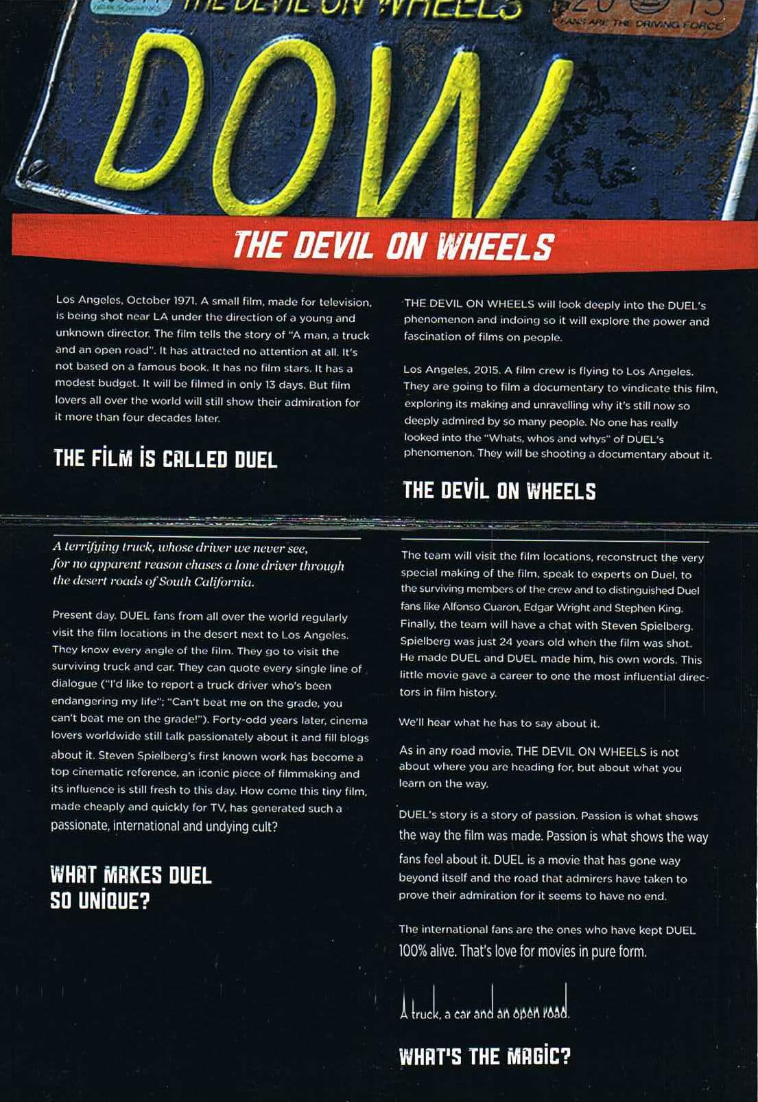 The Devil On Wheels Poster