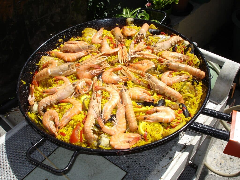 Paella in the Garden