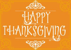 Happy Thanksgiving from Le Chene!
