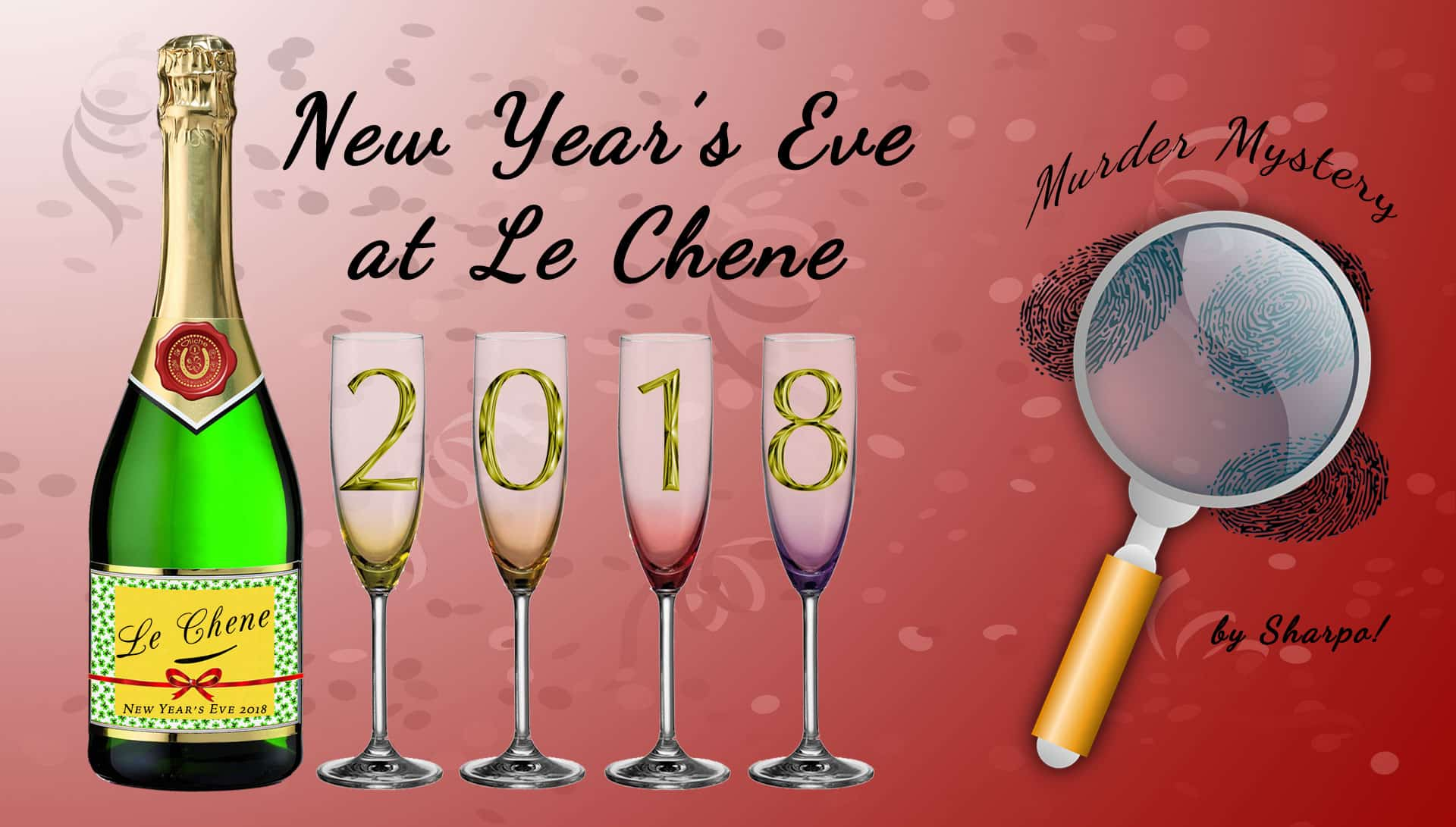 Le Chene New Year's Eve 2018 - Murder Mystery Event Image