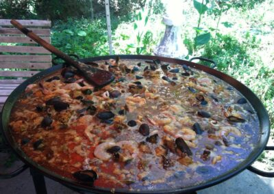 Le Chene Paella In The Garden 2014