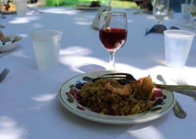 Le Chene Paella Serving