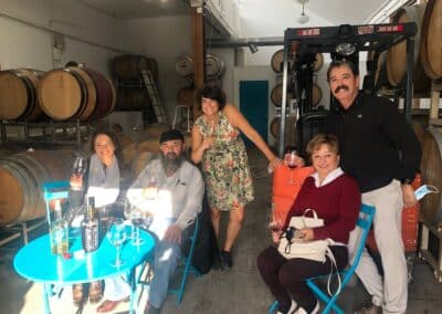Le Chene's Juan Alonso and friends at Angeleno Wines